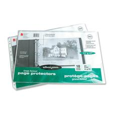 """Wilson Jones Heavyweight Multi Punched Page Protector - 11"""" x 17"""" Sheet - Rectangular - Clear - 10 / Pack"""