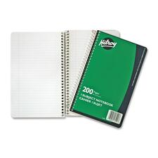 "Hilroy Executive Coil One Subject Notebook - 200 Sheets - Wire Bound - 6"" x 9 1/2"" - Assorted Paper - Subject - 1Each"