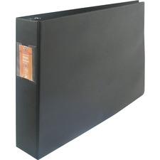 "Wilson Jones Large Format D-Ring Binder - 1 1/2"" Binder Capacity - 11"" x 17"" Sheet Size - 3 x D-Ring Fastener(s) - 12 pt. Binder Thickness - Polyolefin - Black - Punched, Label Holder, Heavy Duty - 1 Each"