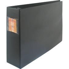 "Wilson Jones Large Format D-Ring Binder - 2"" Binder Capacity - 11"" x 17"" Sheet Size - 3 x D-Ring Fastener(s) - 12 pt. Binder Thickness - Polyolefin - Black - Punched, Label Holder, Heavy Duty - 1 Each"