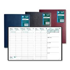 "Quo Vadis The President Agenda Planning Diary - Business - Weekly - 1.1 Year - January 2019 till December 2019 - 8:00 AM to 9:00 PM - 1 Week Double Page Layout - 8 1/4"" x 10 3/4"" - Sewn - Binder - Bright White - Vinyl - Appointment Schedule, Notepad, Refe"