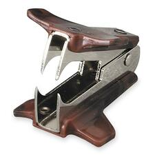 Acme United Easy Grip Claw Type Staple Remover - Metal - Black, Burgundy - 1 Each
