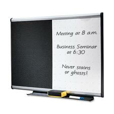 "Quartet Bulletin/Dry-Erase Combo Board - 36"" (3 ft) Width x 24"" (2 ft) Height - Aluminum Frame - 1 Each"