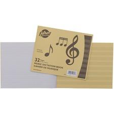 "Hilroy Music Dictation Notebook - 100 Sheets - Plain - 7 3/8"" x 9"" - 1Each"