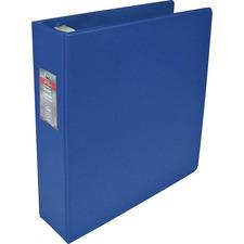 "Wilson Jones Professional Easy Load DublLock D-ring Binders - 2"" Binder Capacity - 8 1/2"" x 11"" Sheet Size - D-Ring Fastener(s) - Internal Pocket(s) - Vinyl - Blue - Locking Ring, Label Holder, Sheet Lifter, PVC-free, Gap-free Ring, Heavy Duty - 1 Each"