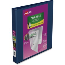 """Avery® Durable View Slant-D Presentation Binder - 1"""" Binder Capacity - Letter - 8 1/2"""" x 11"""" Sheet Size - D-Ring Fastener(s) - Navy - Recycled - Durable, Gap-free Ring - 1 Each"""