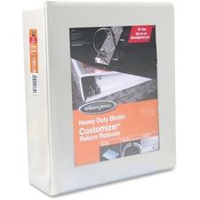"Wilson Jones D-Ring View Binder - 4"" Binder Capacity - Letter - 8 1/2"" x 11"" Sheet Size - D-Ring Fastener(s) - White - Wear Resistant, Tear-resistant - 1 Each"