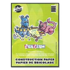 "Hilroy Lightweight Construction Paper Pad - Art, Craft, Office Project - 9"" (228.60 mm) x 12"" (304.80 mm) - 1 Each - Pink, Manila, Yellow, Purple, Black, Green, Red, Orange"