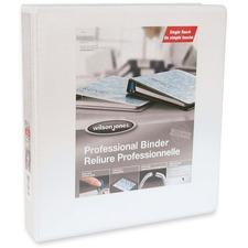 "Wilson Jones Professional Round-ring Customizer Binder - 1 1/2"" Binder Capacity - Letter - 8 1/2"" x 11"" Sheet Size - Round Ring Fastener(s) - White - 1 Each"