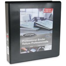 "Wilson Jones Round Ring Customizer Binder - 1 1/2"" Binder Capacity - Letter - Round Ring Fastener(s) - Vinyl - Black - 1 Each"