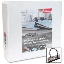 "Wilson Jones Professional Round-ring Customizer Binder - 3"" Binder Capacity - Letter - 8 1/2"" x 11"" Sheet Size - Round Ring Fastener(s) - White - 1 Each"