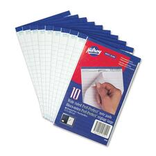 "Hilroy Micro Perforated Business Notepad - 50 Sheets - 0.28"" Ruled - 5"" x 7 3/8"" - White Paper - Micro Perforated, Easy Peel - 1Each"