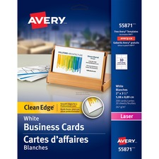 "Avery® Business Card - 2"" x 3 1/2"" - 200 / Pack - White"