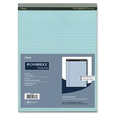 "Hilroy Cambridge Perforated Colored Notepad - 50 Sheets - 20 lb Basis Weight - 8 1/2"" x 11 3/4"" - Blue Paper - Micro Perforated, Easy Tear, Stiff-back - 3 / Pack"