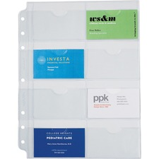 """Day-Timer Business/Credit Card Holder Page - 11"""" (279.40 mm) Width x 8.50"""" (215.90 mm) Length"""