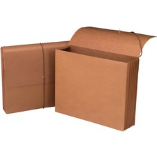 "Smead Letter Recycled File Wallet - 8 1/2"" x 11"" - 700 Sheet Capacity - 5 1/4"" Expansion - Redrope, Tyvek, Paper - 30% Recycled - 1 Each"