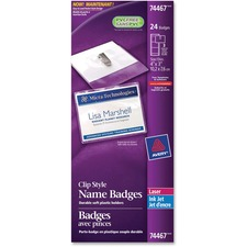 Avery® 74467 Laser/Inkjet Badge Insert - 24 / Pack