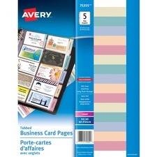 Avery 75355 Business Card Album Refill