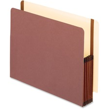 "Pendaflex Oxford Legal File Pocket - Letter - 5 1/4"" Expansion - Fiber - Brown - Recycled - 1 Each"