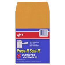 "Hilroy Press-It Seal-It Self Adhesive Envelope - Business - 5 7/8"" Width x 9"" Length - Self-sealing - 6 / Pack"