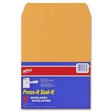 "Hilroy Press-It Seal-It Self Adhesive Envelope - Business - 9"" Width x 12"" Length - Self-sealing - 5 / Pack"