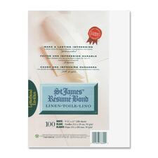 """First Base Inkjet, Laser Bond Paper - White - Recycled - Letter - 8 1/2"""" x 11"""" - 24 lb Basis Weight - Linen - 100 / Pack"""