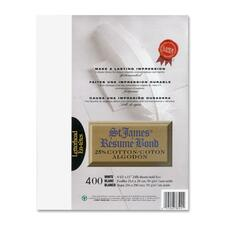 """First Base Inkjet, Laser Bond Paper - White - Recycled - Letter - 8 1/2"""" x 11"""" - 24 lb Basis Weight - 400 / Pack"""