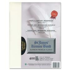 """First Base Inkjet, Laser Bond Paper - Ivory - Recycled - Letter - 8 1/2"""" x 11"""" - 24 lb Basis Weight - Linen - 400 / Pack"""