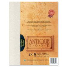 "First Base Antique Bond 78722 Laser Bond Paper - Letter - 8 1/2"" x 11"" - 24 lb Basis Weight - 100 / Pack - Gray"