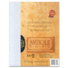 """First Base Antique Bond Laser Bond Paper - Blue - Recycled - Letter - 8 1/2"""" x 11"""" - 24 lb Basis Weight - 100 / Pack"""