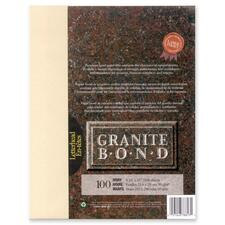 """First Base Granite Bond Laser Laser Paper - Ivory - Recycled - Letter - 8 1/2"""" x 11"""" - 24 lb Basis Weight - 100 / Pack"""