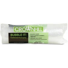 "Crownhill Cushion Wrap - 108"" (2743.20 mm) Width x 16"" (406.40 mm) Length - 187.5 mil (4.8 mm) Thickness - Lightweight - Polyethylene"