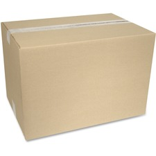 """Crownhill Corrugated Shipping Box - External Dimensions: 12"""" Width x 12"""" Depth x 18"""" Height - 200 lb - Brown - Recycled - 1 Each"""