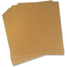 "Crownhill Envelope Stiffener Boards - Board - 8 1/2"" Width x 14"" Length - Board Stock - 20 / Pack - Brown"