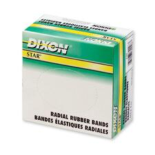 Dixon Star Radial Rubber Band - Size: #62 - 0.25 lb/in - 1 / Box - Rubber