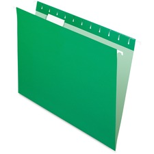 "Pendaflex 1/5 Tab Cut Letter Recycled Hanging Folder - 8 1/2"" x 11"" - Green, Bright Green - 10% Recycled - 25 / Box"