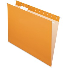 "Pendaflex 1/5 Tab Cut Letter Recycled Hanging Folder - 8 1/2"" x 11"" - Orange - 10% Recycled - 25 / Box"