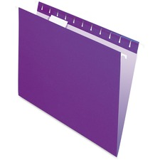 "Pendaflex 1/5 Tab Cut Letter Recycled Hanging Folder - 8 1/2"" x 11"" - Violet - 10% Recycled - 25 / Box"