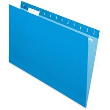 "Pendaflex 1/5 Tab Cut Legal Recycled Hanging Folder - 8 1/2"" x 14"" - Blue - 10% - 25 / Box"