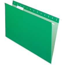 """Pendaflex Oxford Colored Hanging File Folder - Legal - 8 1/2"""" x 14"""" Sheet Size - 1/5 Tab Cut - Bright Green - Recycled - 25 / Box"""