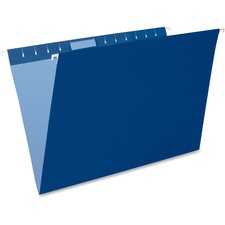 "Pendaflex Oxford Hanging File Folders - Legal - 8 1/2"" x 14"" Sheet Size - 1/5 Tab Cut - Navy - Recycled - 25 / Box"