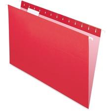 "Pendaflex 1/5 Tab Cut Legal Recycled Hanging Folder - 8 1/2"" x 14"" - 1 Pocket(s) - Red - 10% - 25 / Box"