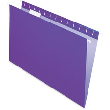 "Pendaflex Oxford Hanging File Folder - Legal - 8 1/2"" x 14"" Sheet Size - 1/5 Tab Cut - Violet - Recycled - 25 / Box"