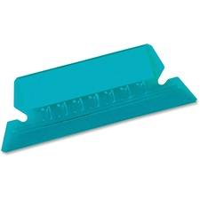 Pendaflex Hanging File Folder Tab - Blank Tab(s) - Blue Plastic Tab(s) - 25 / Pack
