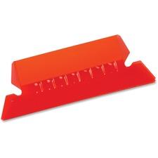 Pendaflex Hanging File Folder Tab - Blank Tab(s) - Red Plastic Tab(s) - 25 / Pack
