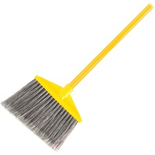 "Rubbermaid Angled Brute Broom - 10.50"" (266.70 mm) Polypropylene Bristle - 1"" (25.40 mm) Handle Diameter - Metal Handle - 1 Each"