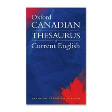 Oxford University Press Canadian Thesaurus of Current English Dictionary Printed Book by Katherine Barber, Robert Pontisso, Heather Fitzgerald - English - Published on: 2006 October - 1104 Pages