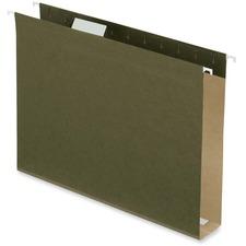 "Pendaflex Standard Green Hanging Folder - 2"" Folder Capacity - Letter - 8 1/2"" x 11"" Sheet Size - Standard Green - 9.1 g - Recycled - 25 / Box"