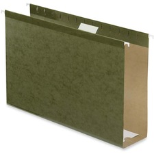"Pendaflex Standard Green Hanging Folder - 3"" Folder Capacity - Legal - 8 1/2"" x 14"" Sheet Size - Standard Green - Recycled - 25 / Box"