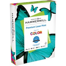 """Hammermill Multipurpose Paper - 96 Brightness - Letter - 8 1/2"""" x 11"""" - 24 lb Basis Weight - Smooth - 2500 / Box"""